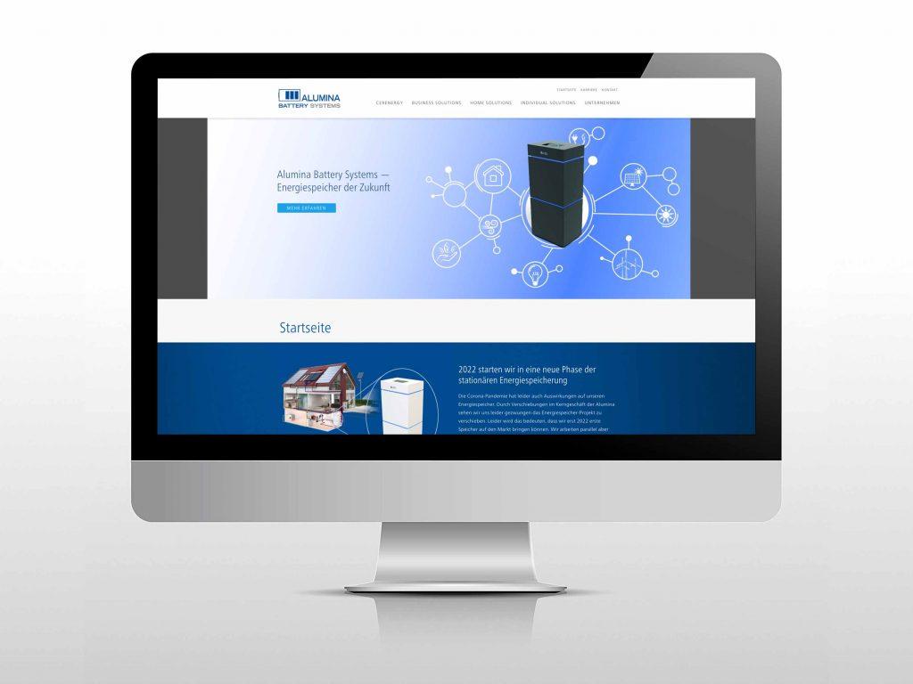 Website Alumina Systems Energiespeicher